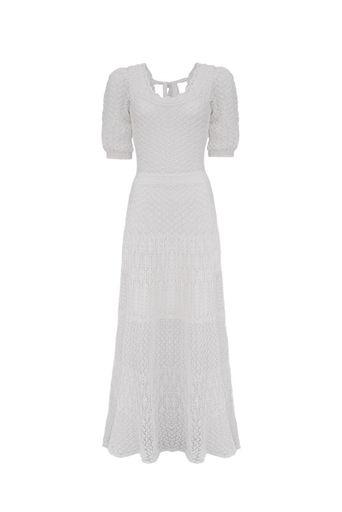 Vestido-Tricot-Midi-Magnolia-Off-White-Frente